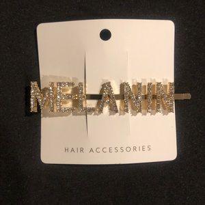 MELANIN Gold Rhinestone Hair Clip 😍😘